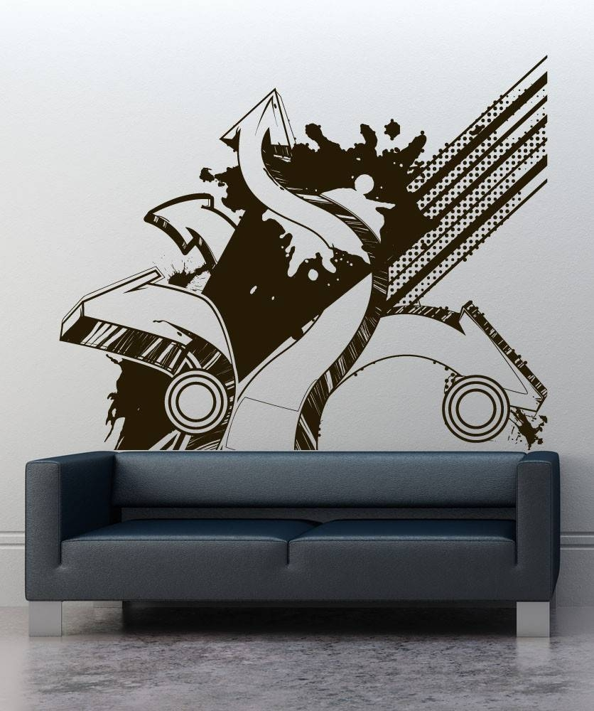 Grf Htm Web Art Gallery Graffiti Wall Decals – Home Decor Ideas Pertaining To Recent Graffiti Wall Art Stickers (View 14 of 30)