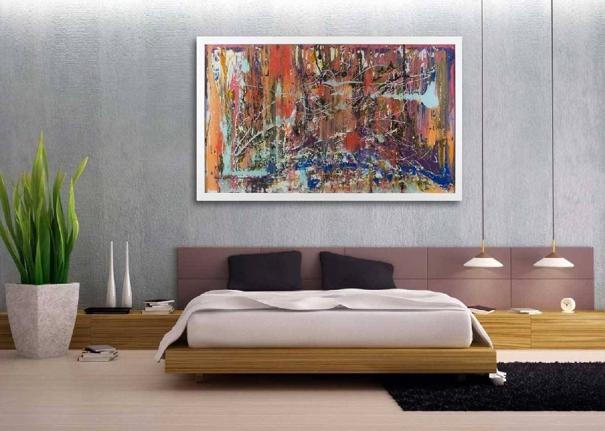 Groovy Oversized Wall Art Large Living Room Wall Decorating Ideas With Most Popular Oversized Canvas Wall Art (View 8 of 20)