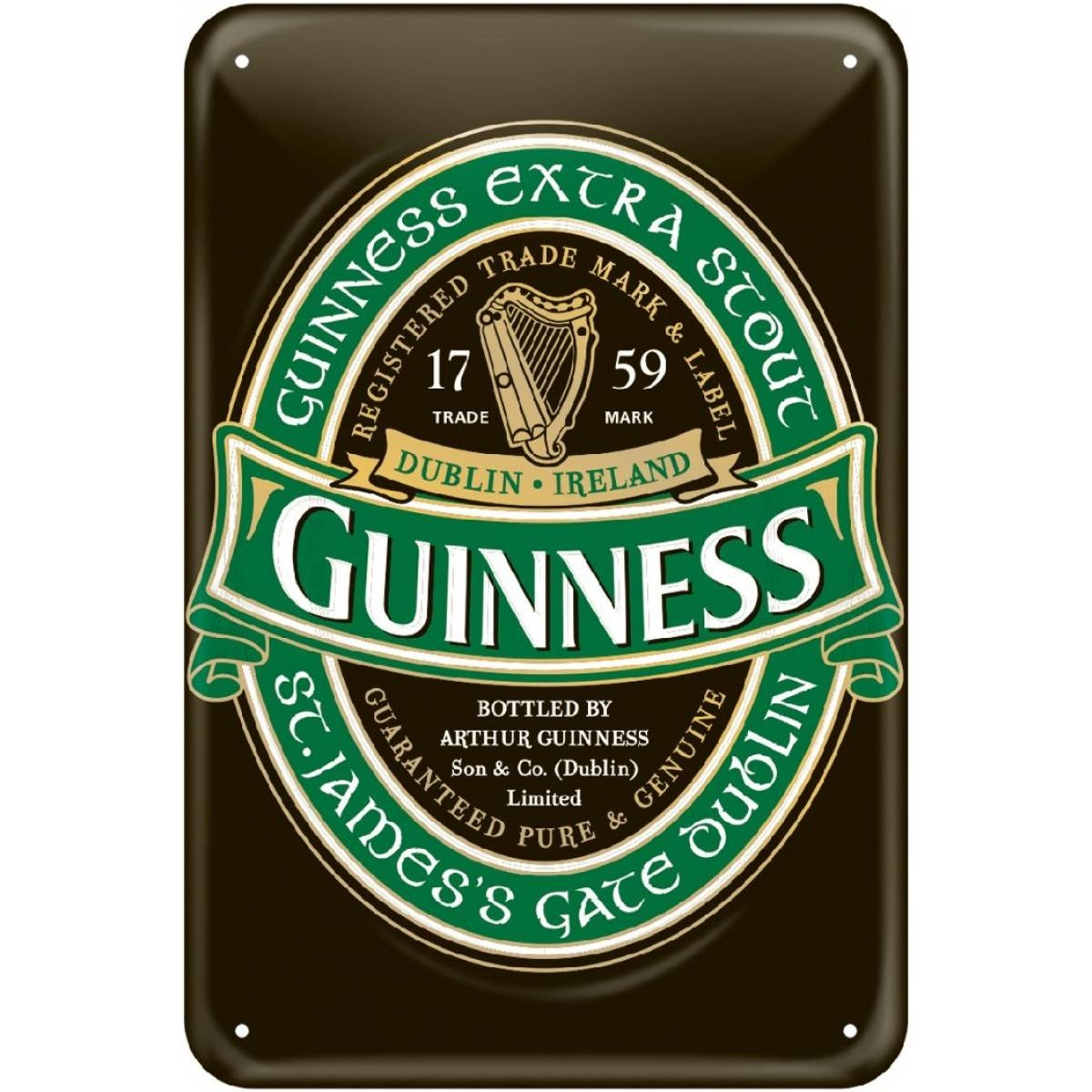 Guinness® Green Collection Wall Art Inside Most Current Ireland Metal Wall Art (View 8 of 20)