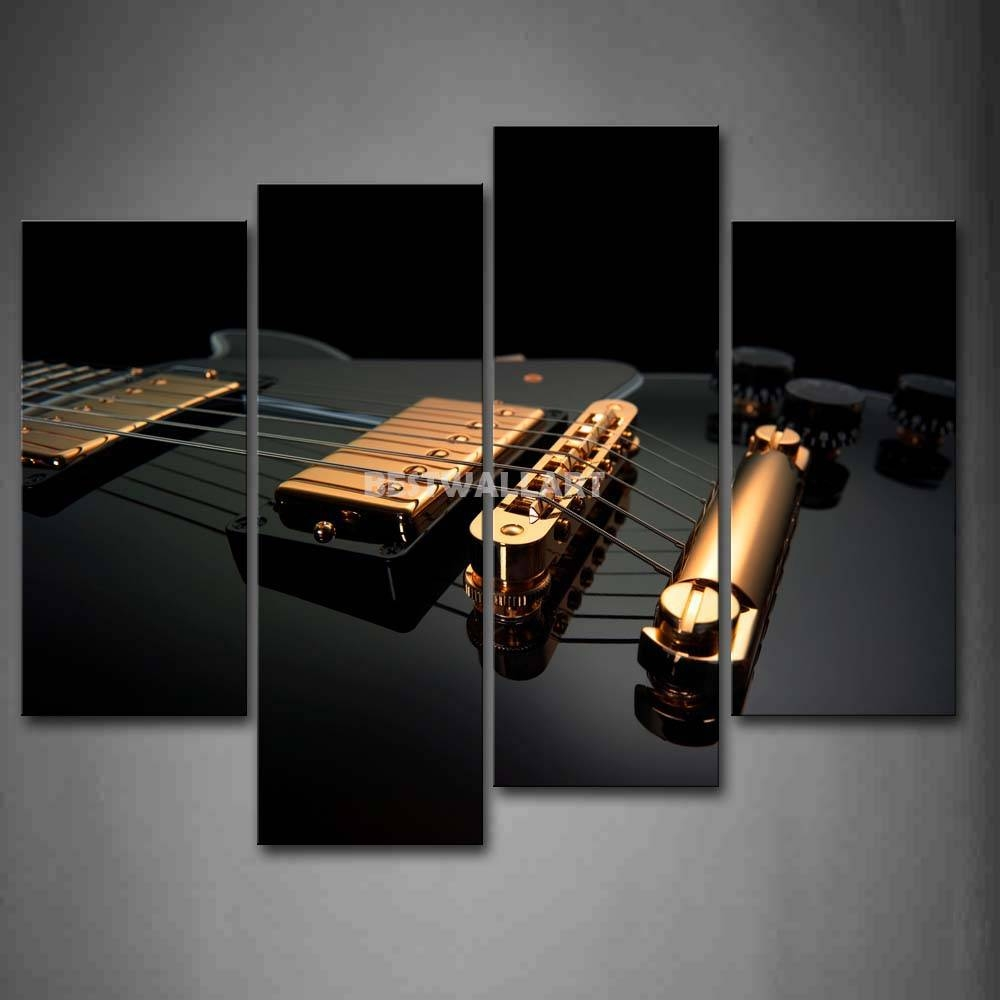 Guitar Canvas Wall – Todosobreelamor Regarding Recent Guitar Canvas Wall Art (View 18 of 20)