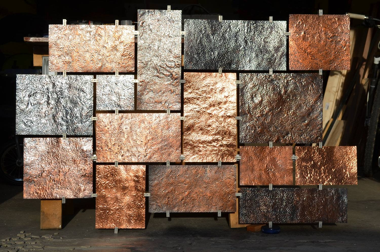 Featured Photo of Hammered Metal Wall Art