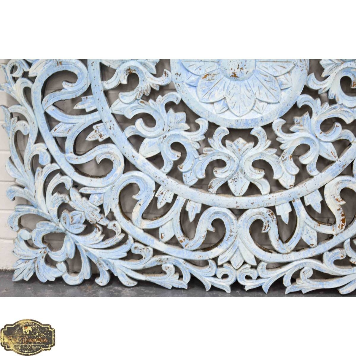 Hand Carved Antique Pattern Timber Wall Art Panel Intended For Current Pattern Wall Art (View 14 of 20)