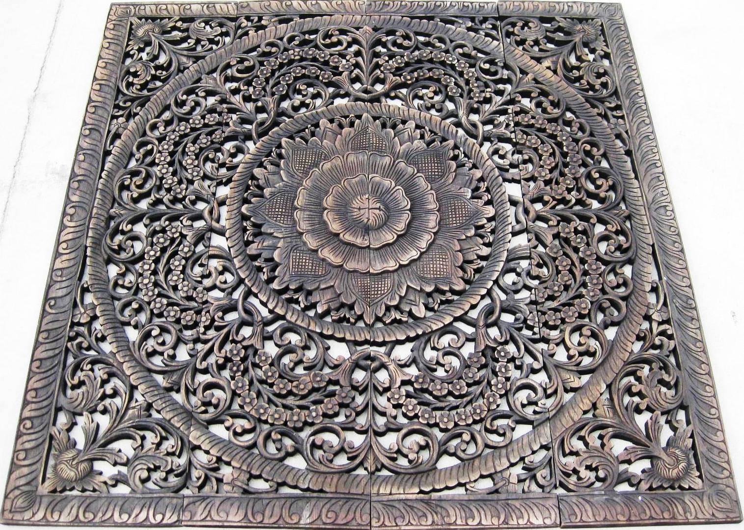 Hand Carved Teak Panel/teak Wood Panels/teak Wood Carvings In Most Popular Wood Carved Wall Art Panels (View 12 of 25)