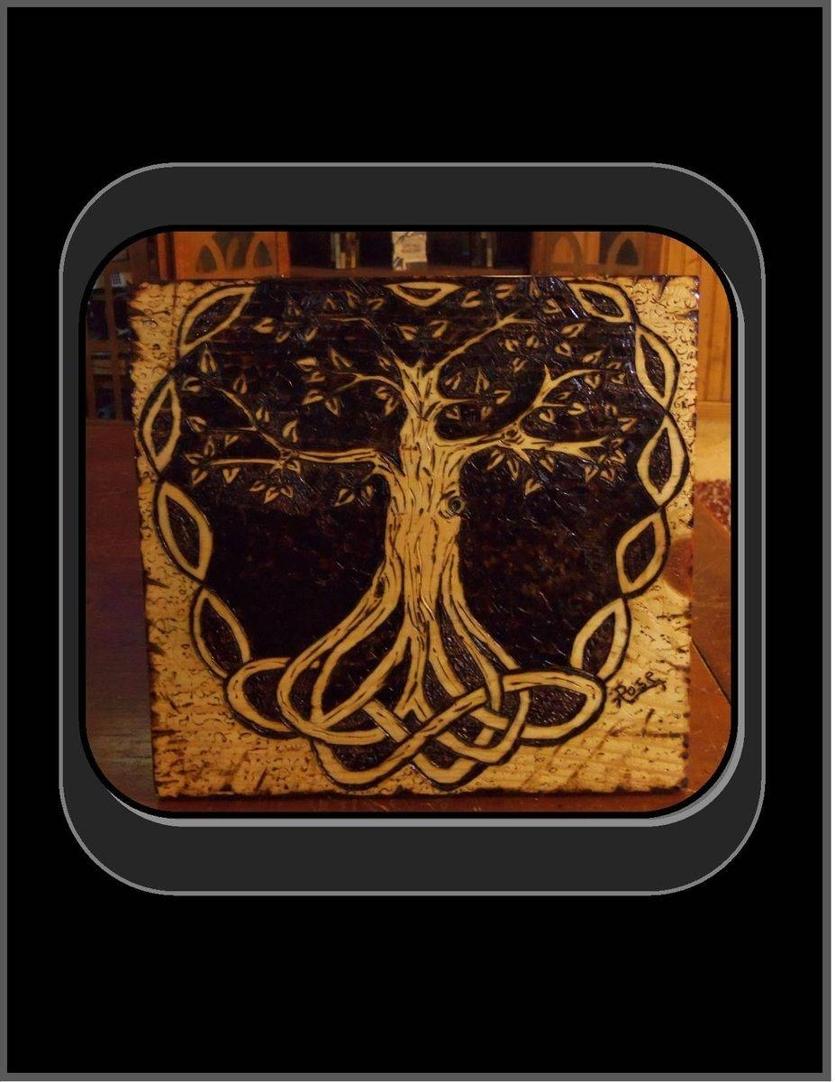 Hand Made Celtic Knot, Tree Of Life, Pyrography, Tree Of Life Art Inside Most Recently Released Celtic Tree Of Life Wall Art (View 12 of 30)
