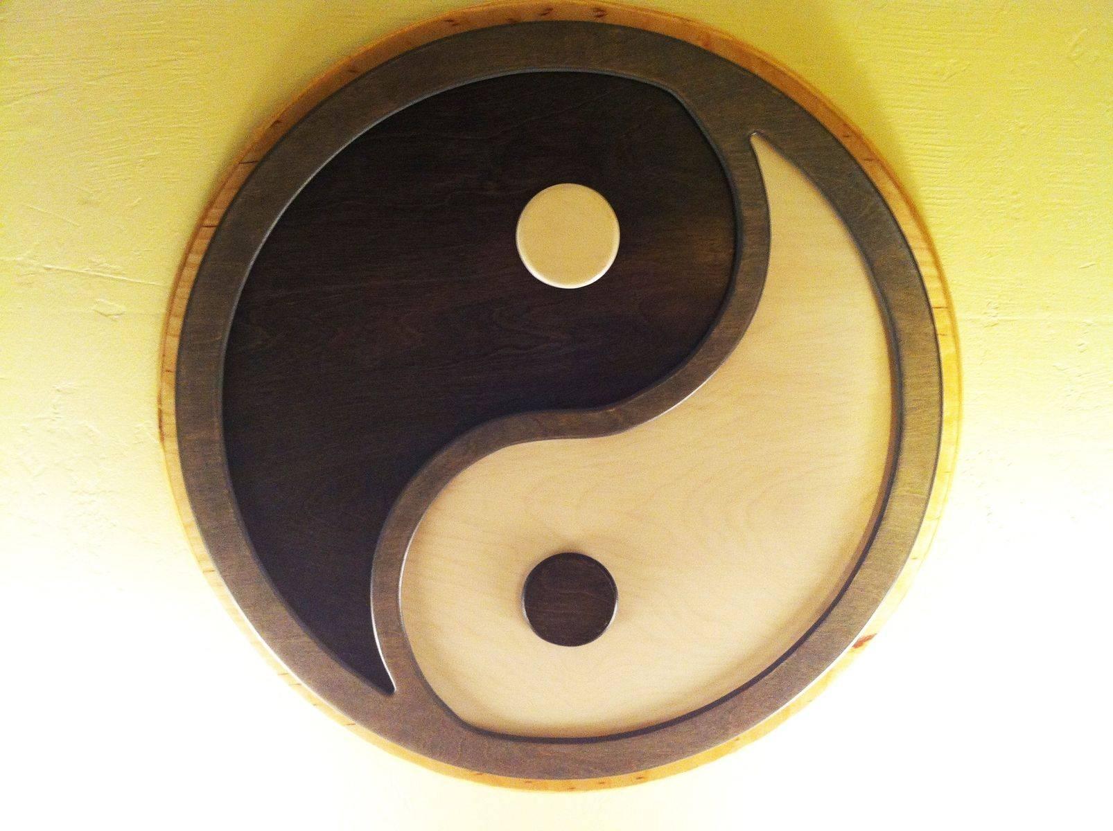 Hand Made Custom Commissioned Layered Yin Yang Wall Art For 2018 Yin Yang Wall Art (View 10 of 30)