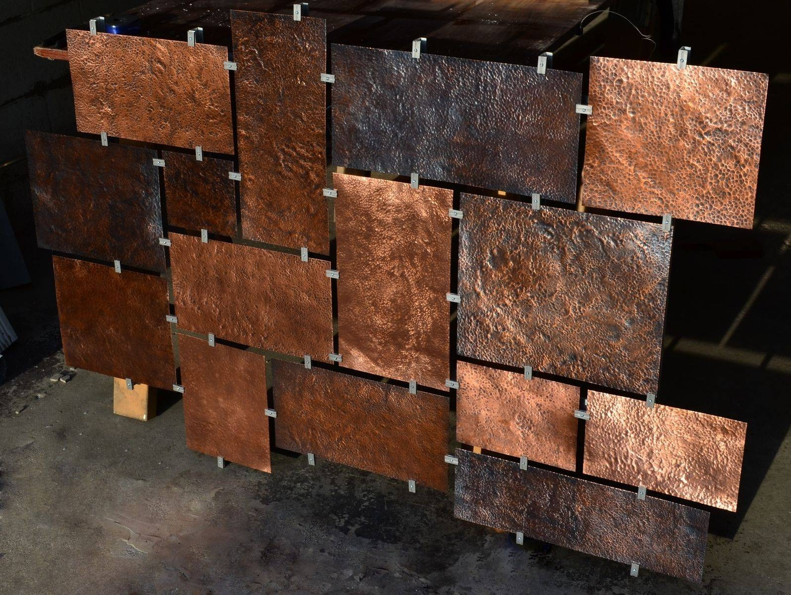 Hand Made Custom Hammered Copper Wall Artfabitecture Regarding Most Current Hammered Metal Wall Art (View 10 of 20)
