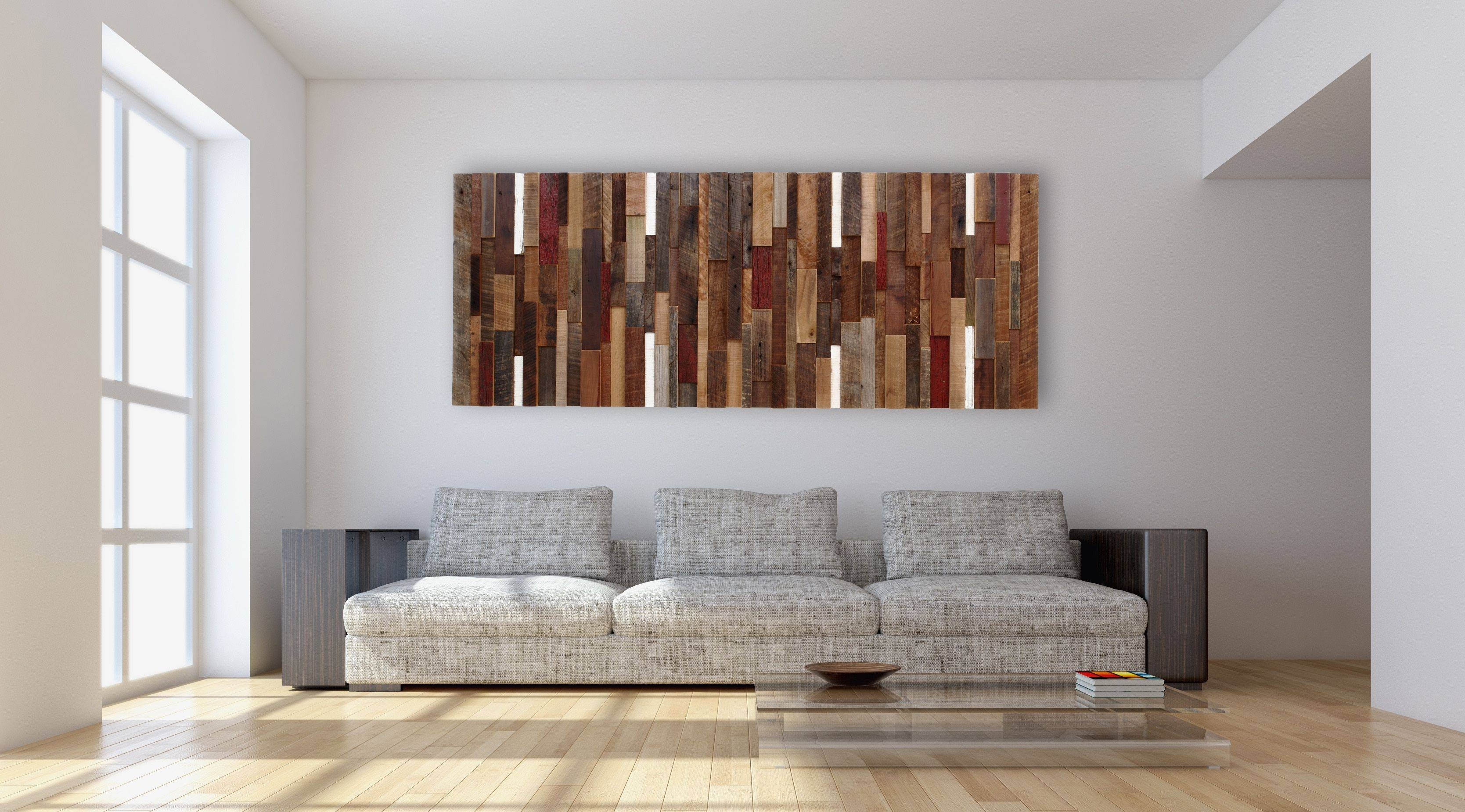 Hand Made Reclaimed Wood Wall Art, Made Intirely Of Reclaimed Barn Intended For Most Current Wood Wall Art (Gallery 20 of 25)
