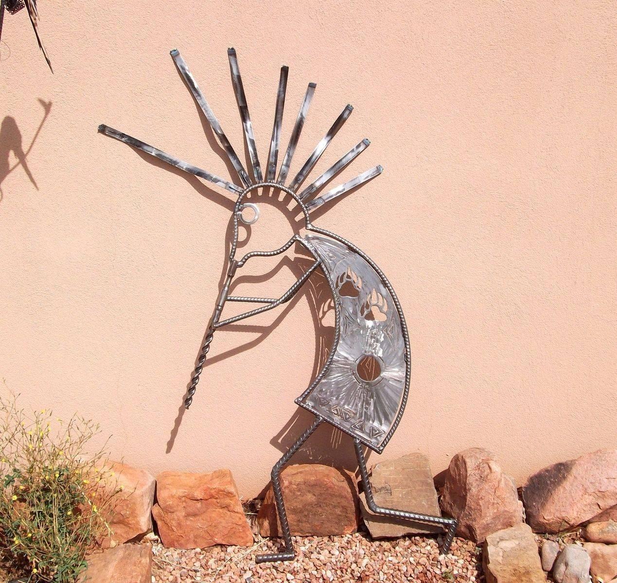 Handmade Garden Art, Home Decor,outdoor Sculpture Kokopelli Throughout Most Popular Kokopelli Metal Wall Art (View 12 of 25)