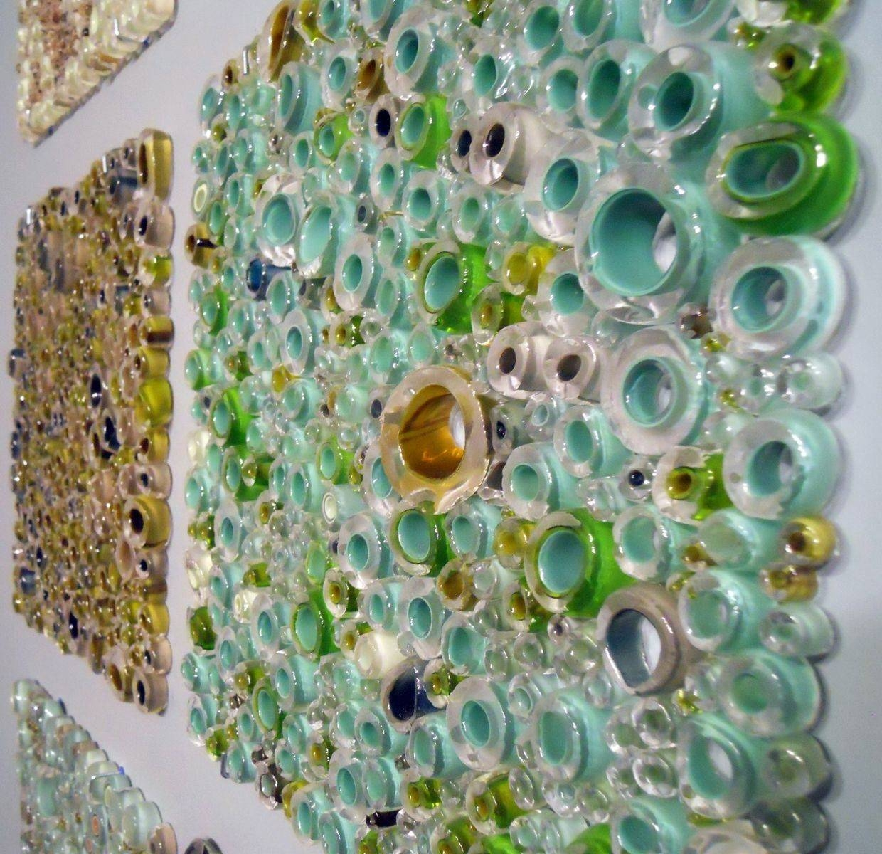 Handmade Glass Wall Panel Art Work, Fused Tubing Serieswolf Throughout Most Current Glass Wall Art Panels (View 13 of 20)