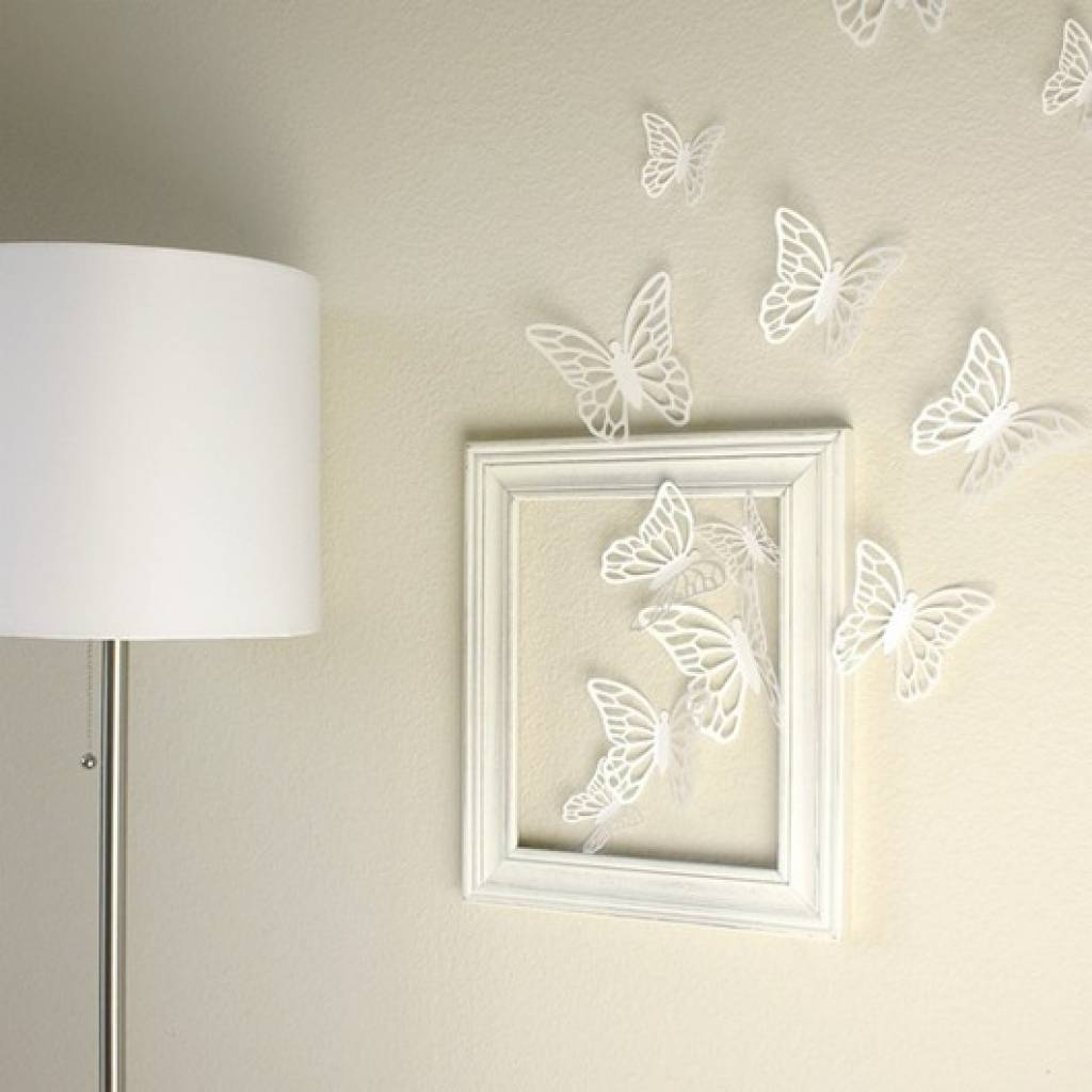 Handmade Heat/torch Colored Metal Butterflyhomedecorgardenwall Throughout Recent White & Explore Photos of White 3D Butterfly Wall Art (Showing 15 of 20 Photos)