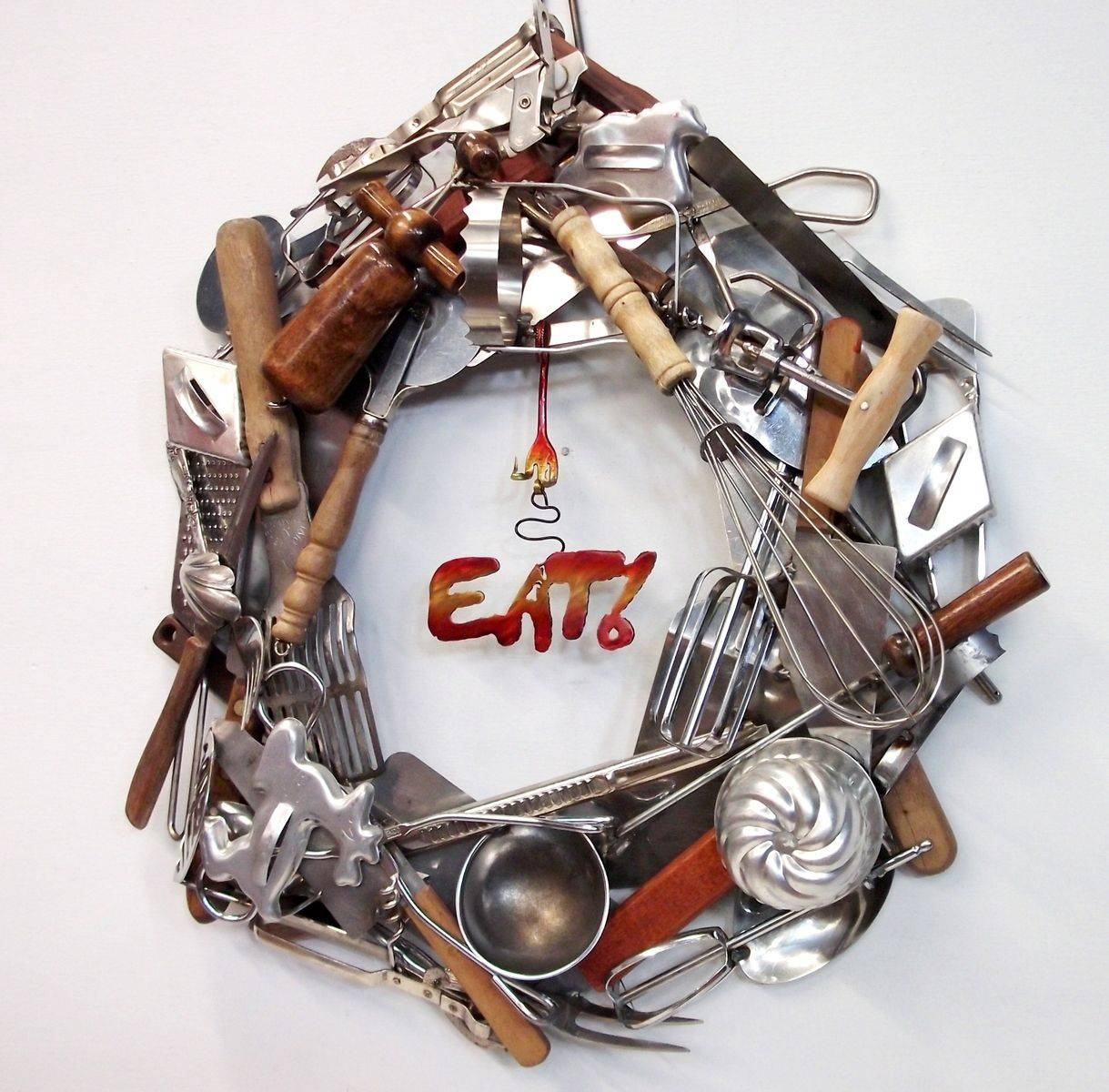 Handmade Home Decor, Custom Wreaths, Wall Art $100 – 500, Recycled Intended For Recent Recycled Wall Art (View 13 of 30)