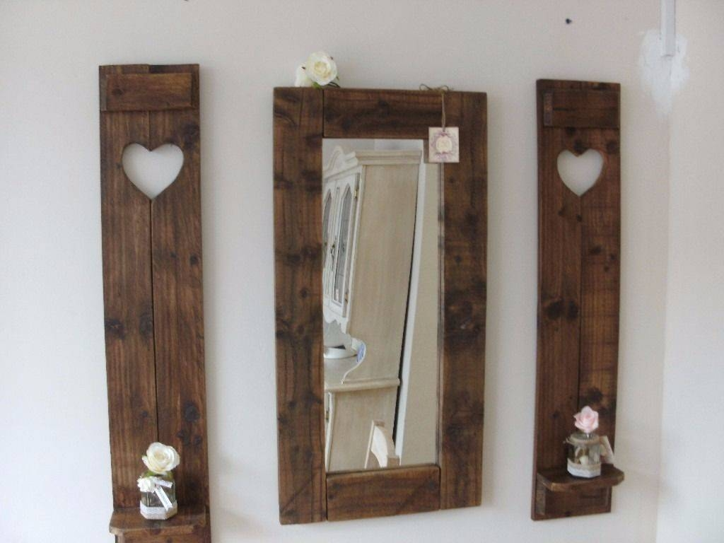 Handmade Mirror And Matching Wall Art Shelves (View 7 of 20)
