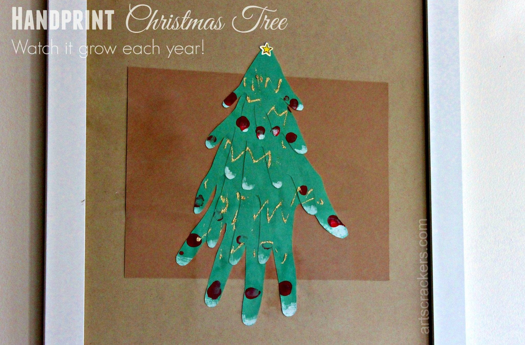 Handprint Christmas Tree Framed Wall Art Inside Latest Pine Tree Wall Art (View 7 of 30)