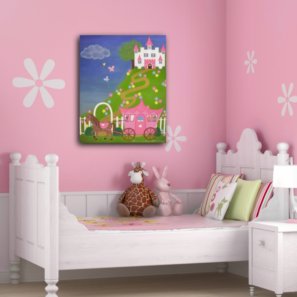Happily Ever After – Kids Art Canvas Panel Children's Decor With Newest Princess Canvas Wall Art (View 12 of 20)