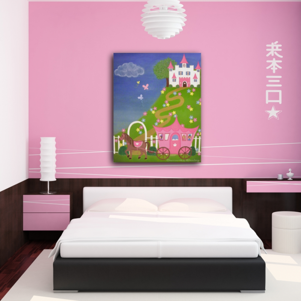 Happily Ever After – Kids Art Canvas Panel Children's Decor With Regard To Most Up To Date Childrens Wall Art Canvas (View 6 of 20)