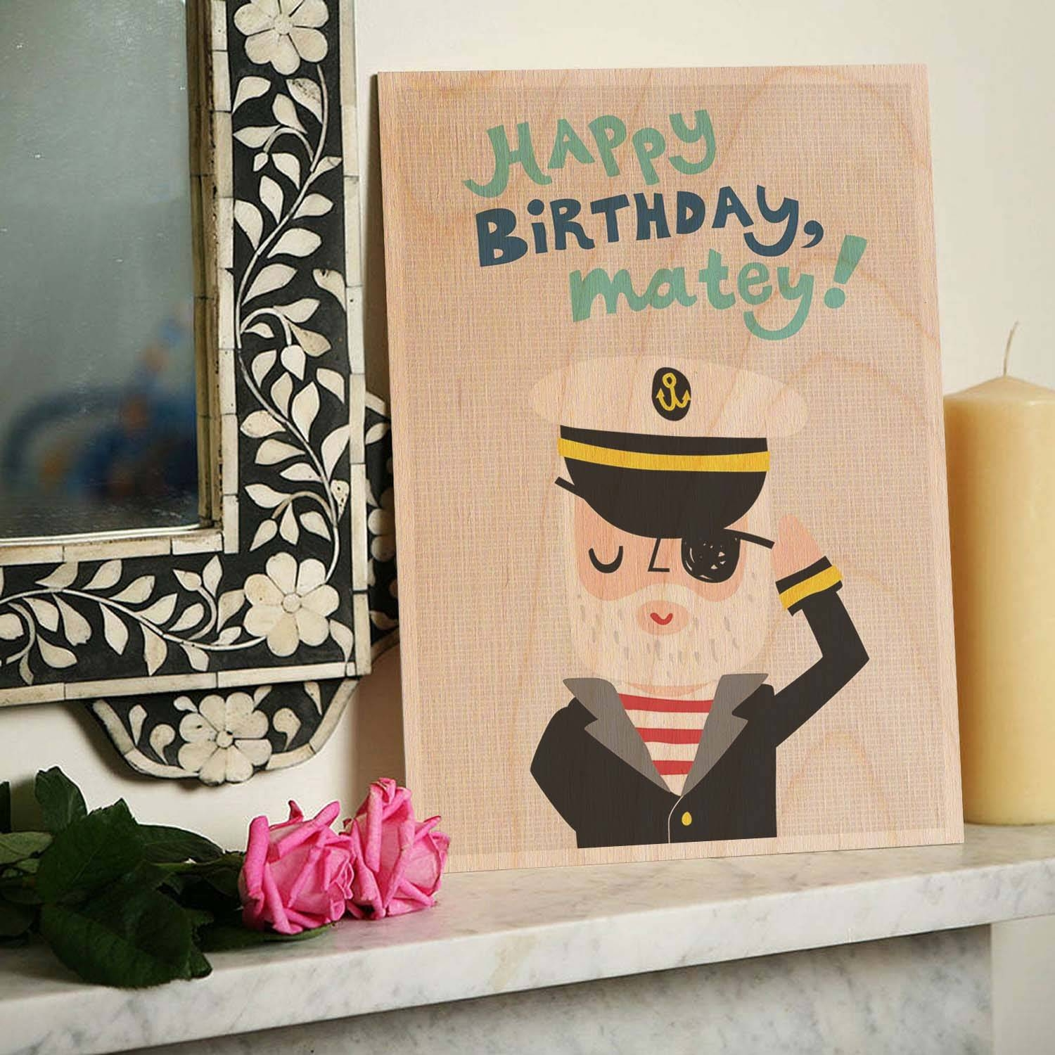 Happy Birthday Matey Wooden Timbergram Wall Art – Wooden Postcards Throughout Most Recent Happy Birthday Wall Art (View 13 of 20)