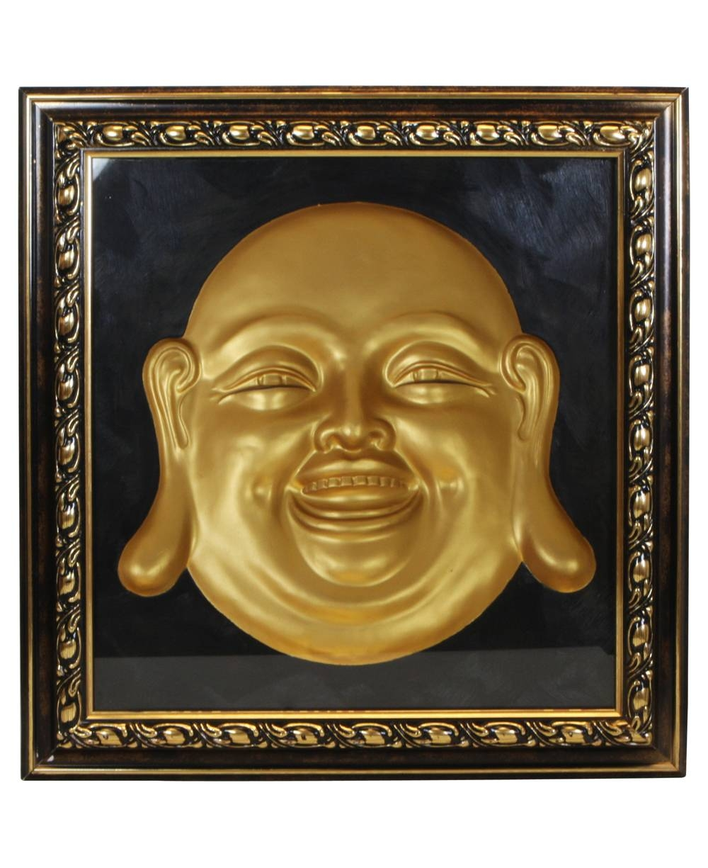 Happy Buddha Concave Wall Sculpture For Most Up To Date 3D Buddha Wall Art (View 15 of 20)