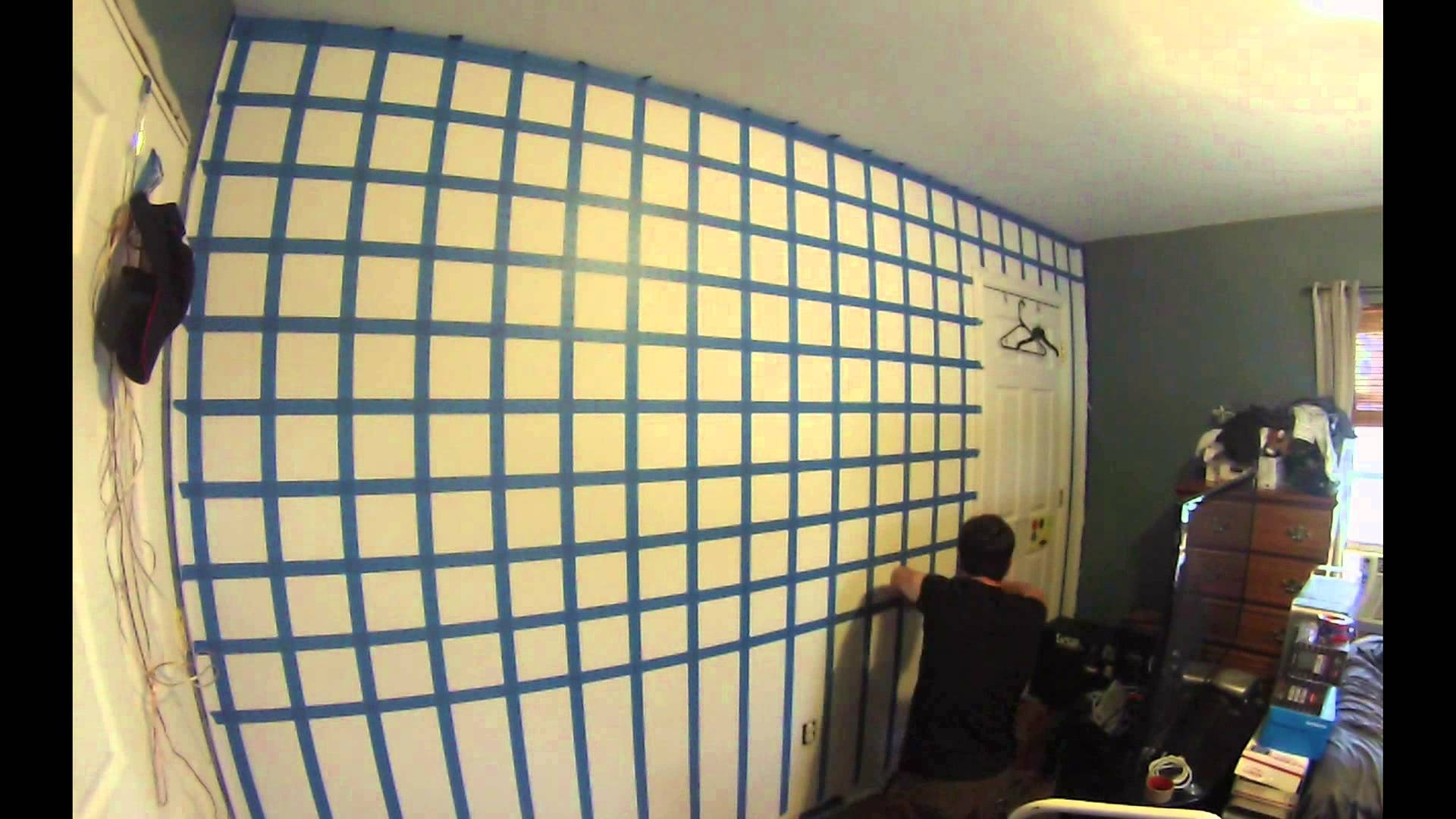 Hd] 3D Cube Wall Painting Time Lapse – Youtube Pertaining To Newest Cubes 3D Wall Art (View 7 of 20)