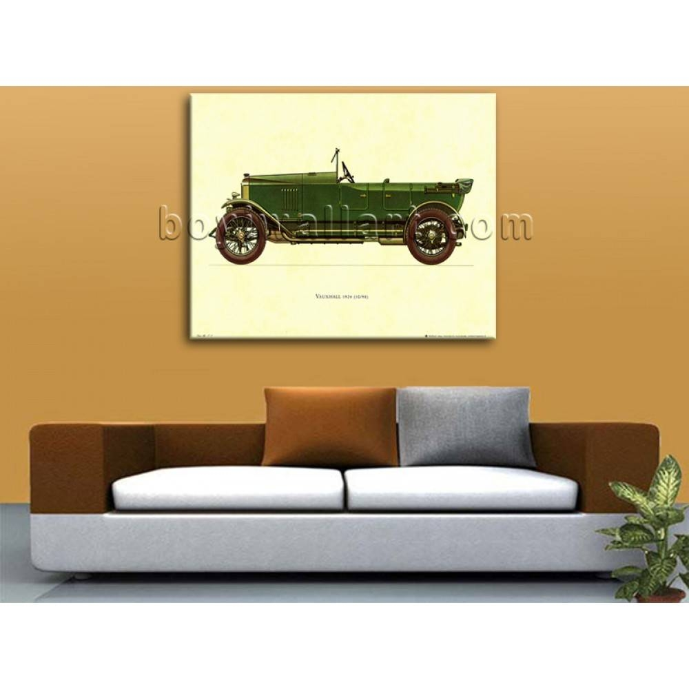 Hd Print Canvas Wall Art Transportation Vauxhall 1924 Vintage Car Pertaining To Latest Classic Car Wall Art (View 14 of 25)