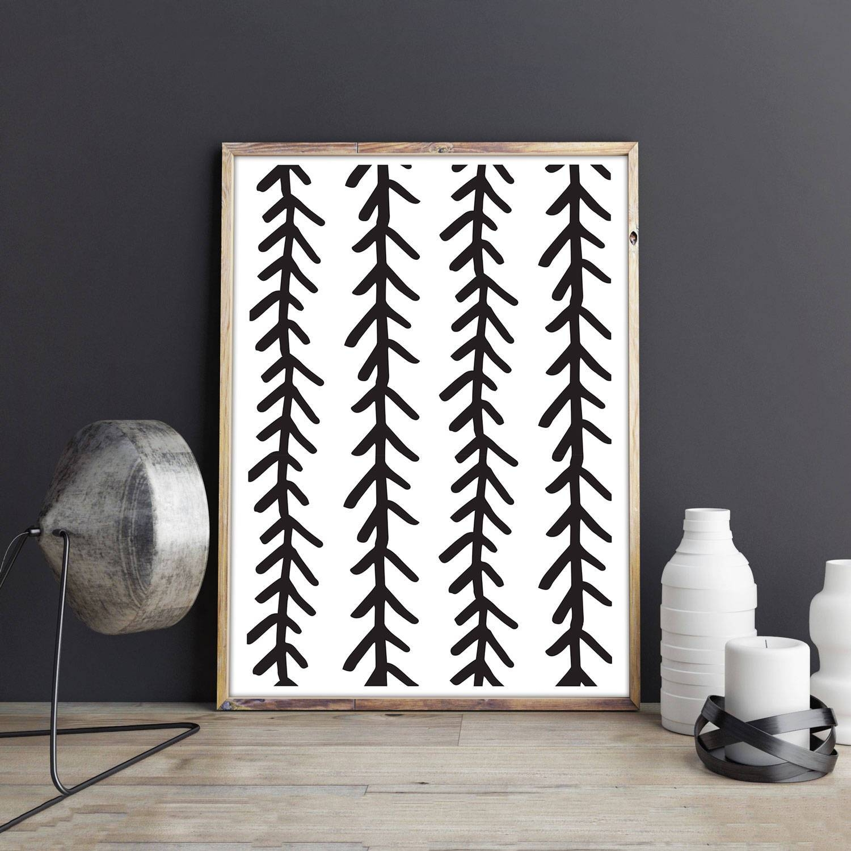 Herringbone Pattern Digital Art Print Arrow Pattern Tribal With Regard To 2018 Fish Bone Wall Art (View 16 of 20)