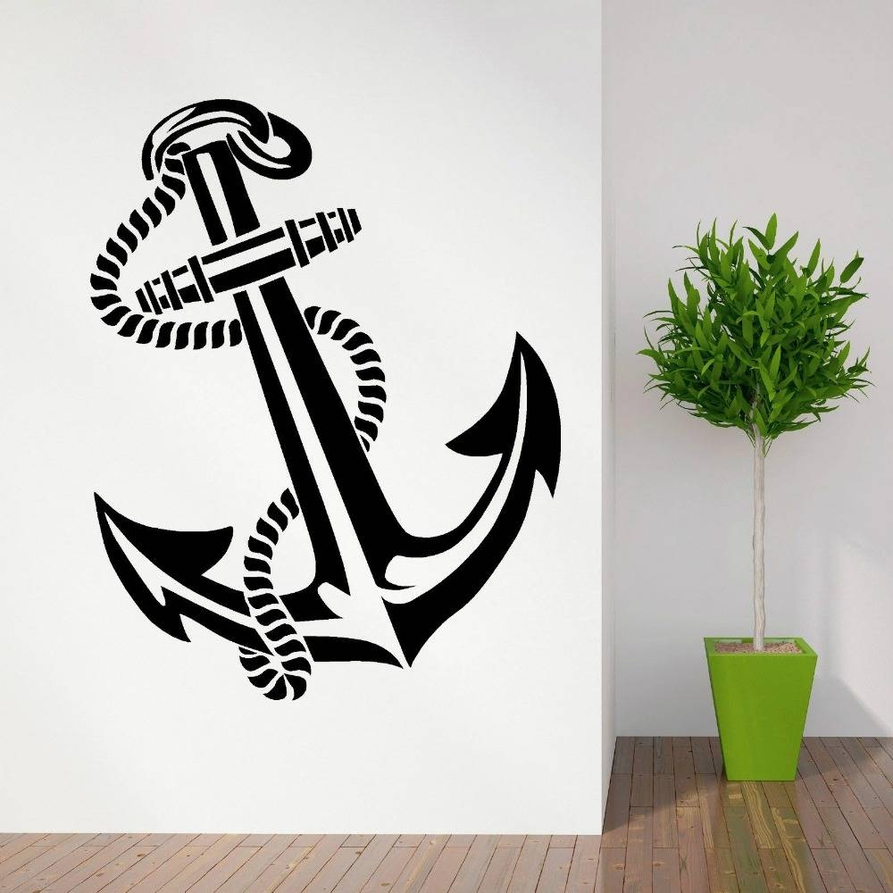 High Quality Anchor Retro Vintage Tattoo Ships Vinyl Wall Art With Regard To Newest Tattoos Wall Art (Gallery 8 of 20)