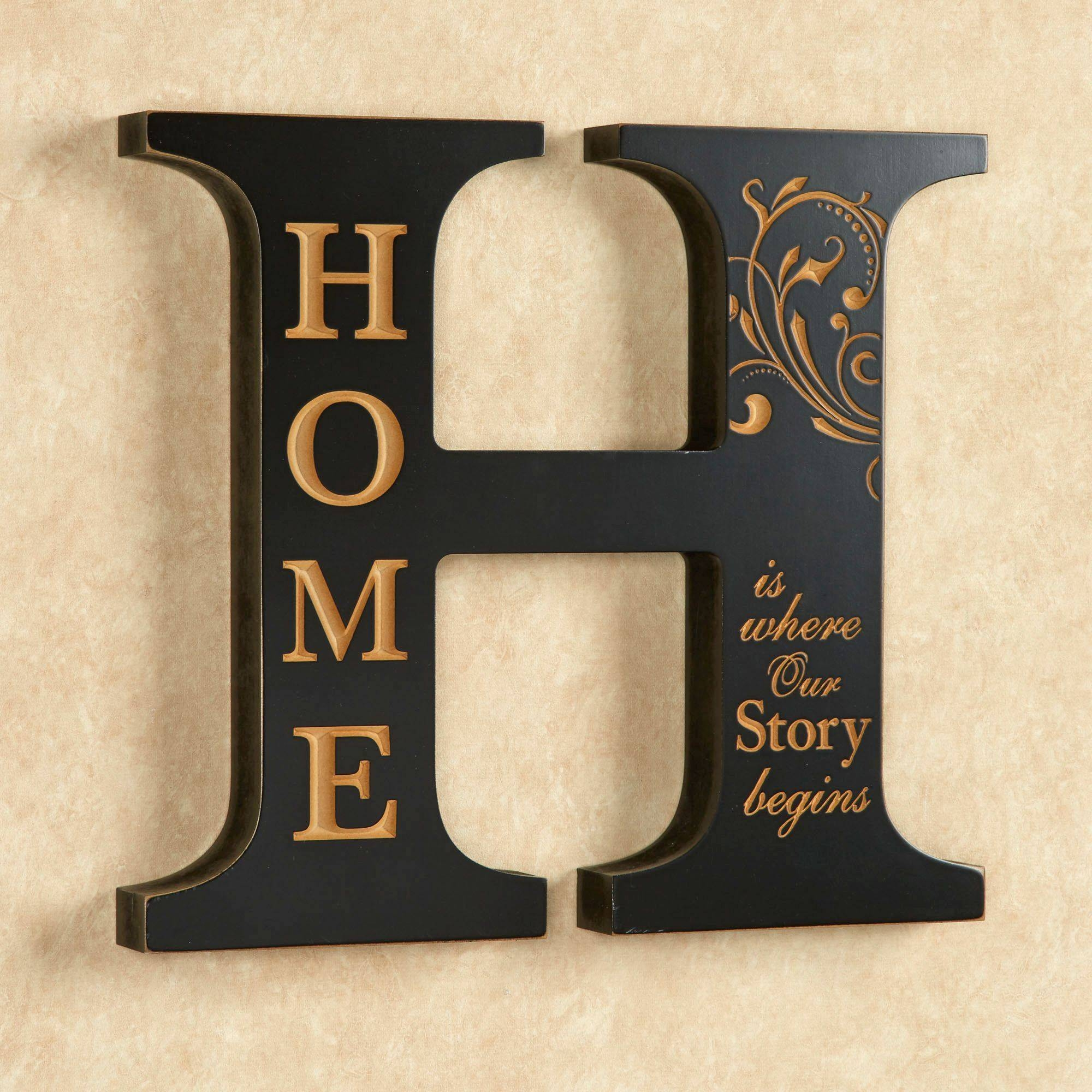 Home Accent Letter Wall Decoration Inside Best And Newest Inspirational Wall Plaques (View 6 of 20)