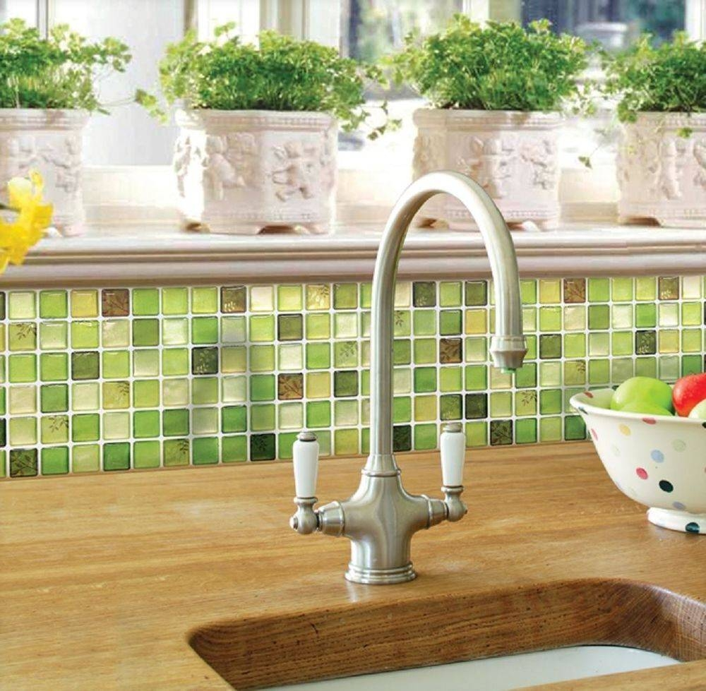 Home Bathroom Kitchen Wall Decor Stickers Peel And Stick Tile In Most Popular 3D Wall Art For Kitchen (Gallery 11 of 20)