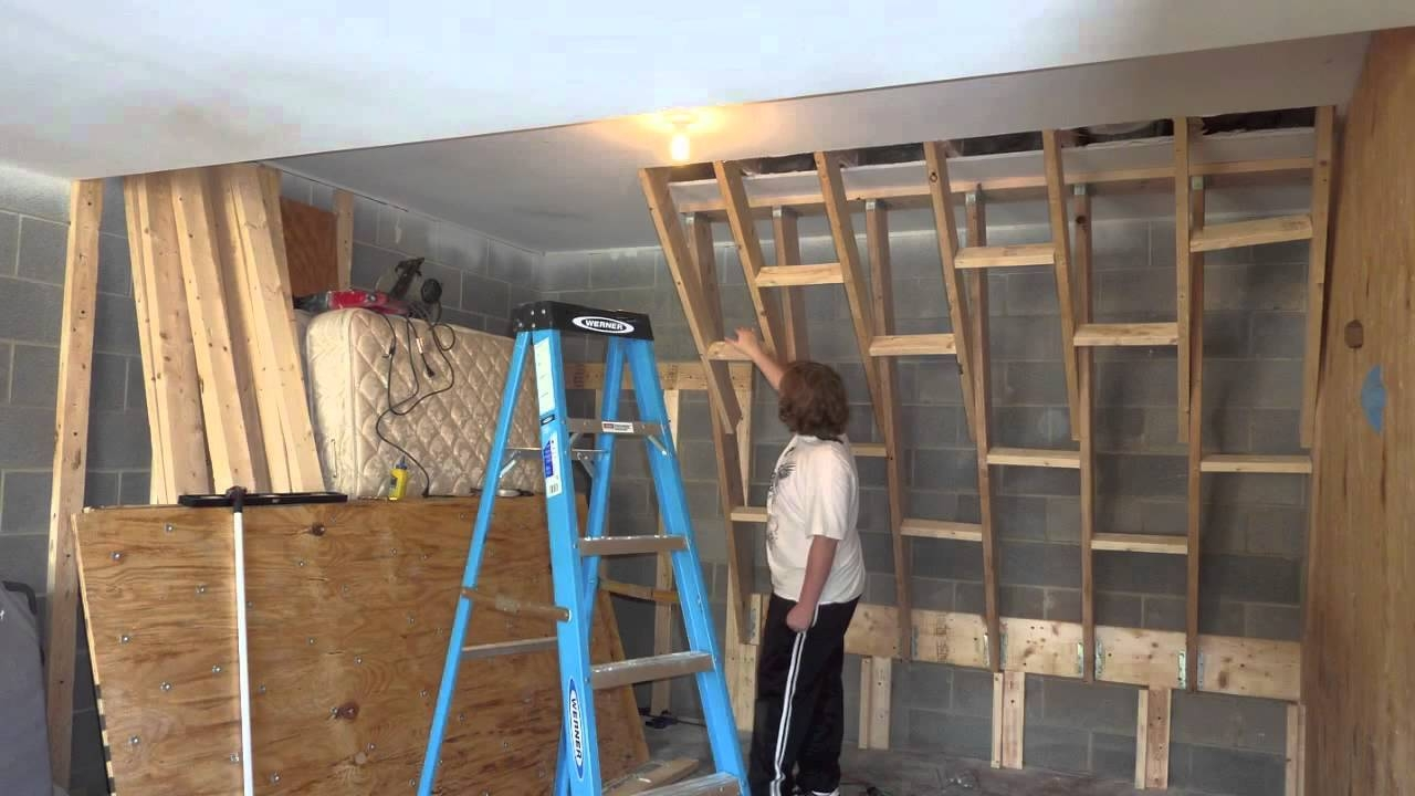 Home Climbing Wall Construction 2 – Youtube Pertaining To Most Current Home Bouldering Wall Design (Gallery 4 of 20)