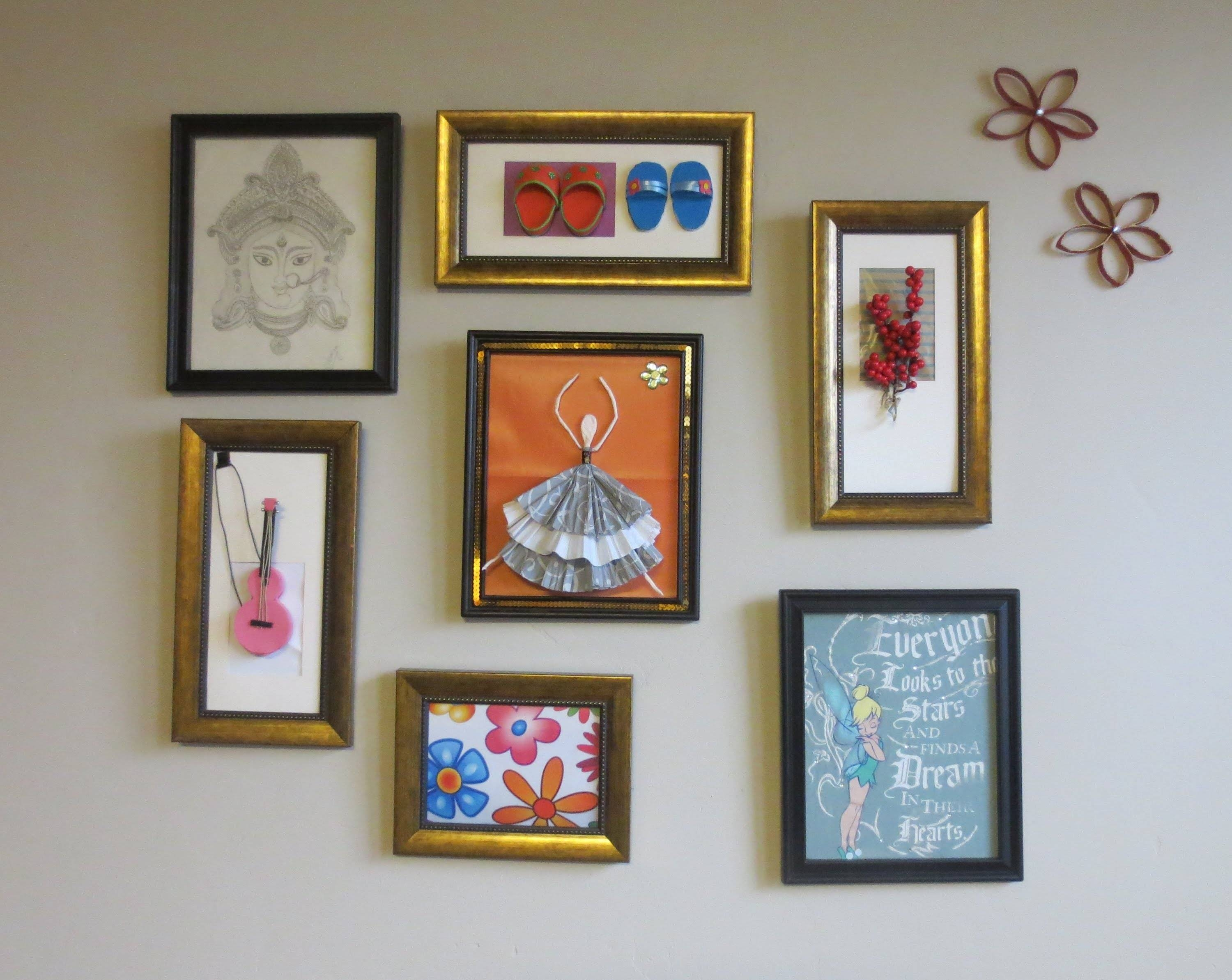 Home Decor : Tshirt Graphic & 3D Wall Art Picture Frame Collage Pertaining To 2018 Diy 3D Wall Art Decor (View 11 of 20)