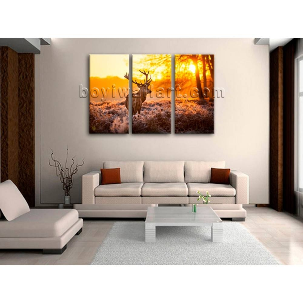 Home Decor Wall Art Pictures Canvas Print Landscape Animal Deer Intended For Most Up To Date Photography Wall Art (View 10 of 25)