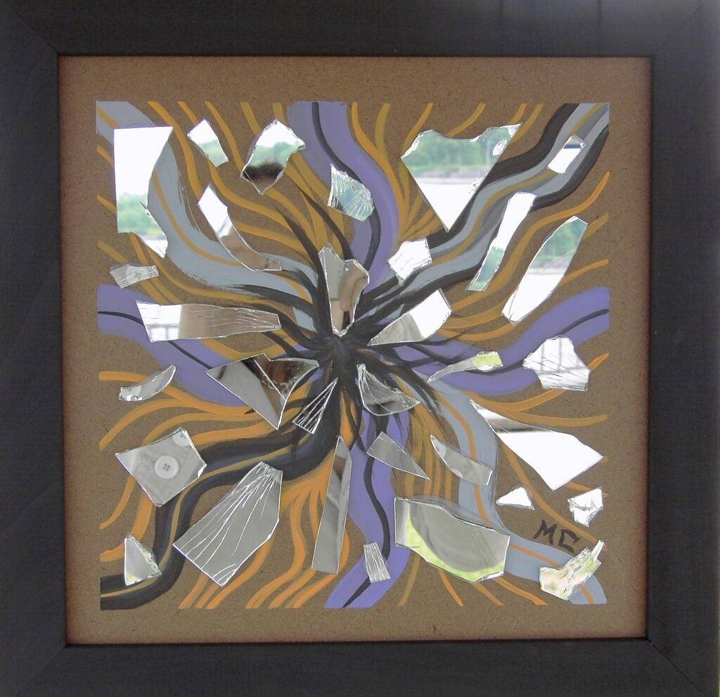 Home Decoration: Art Deco Compact Mirror With Scattered Mirror Art Intended For Most Up To Date Wall Art Mirrors Contemporary (View 19 of 20)
