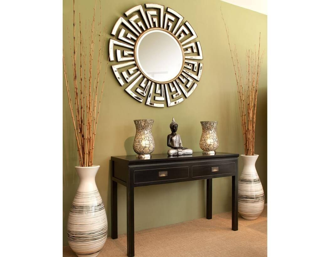 Home Decoration: Cool Tall Mirrors Art With Superb Wooden Mirror With Current Contemporary Mirror Wall Art (View 15 of 20)