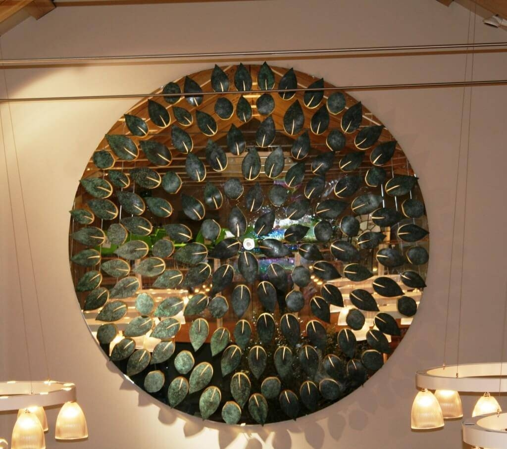 Home Decoration: Wondeful Honey Comb Art Mirrors And Silver Wall Intended For Most Popular Mirror Circles Wall Art (View 15 of 20)