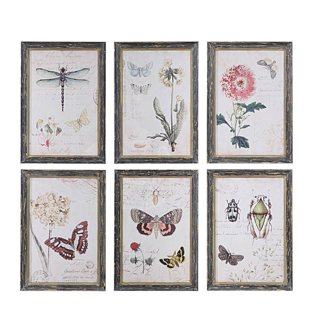 "Home Decorators Collection 27.5 In. H X 15.5 In. W ""work Hard And Within Recent Insect Wall Art (Gallery 21 of 30)"