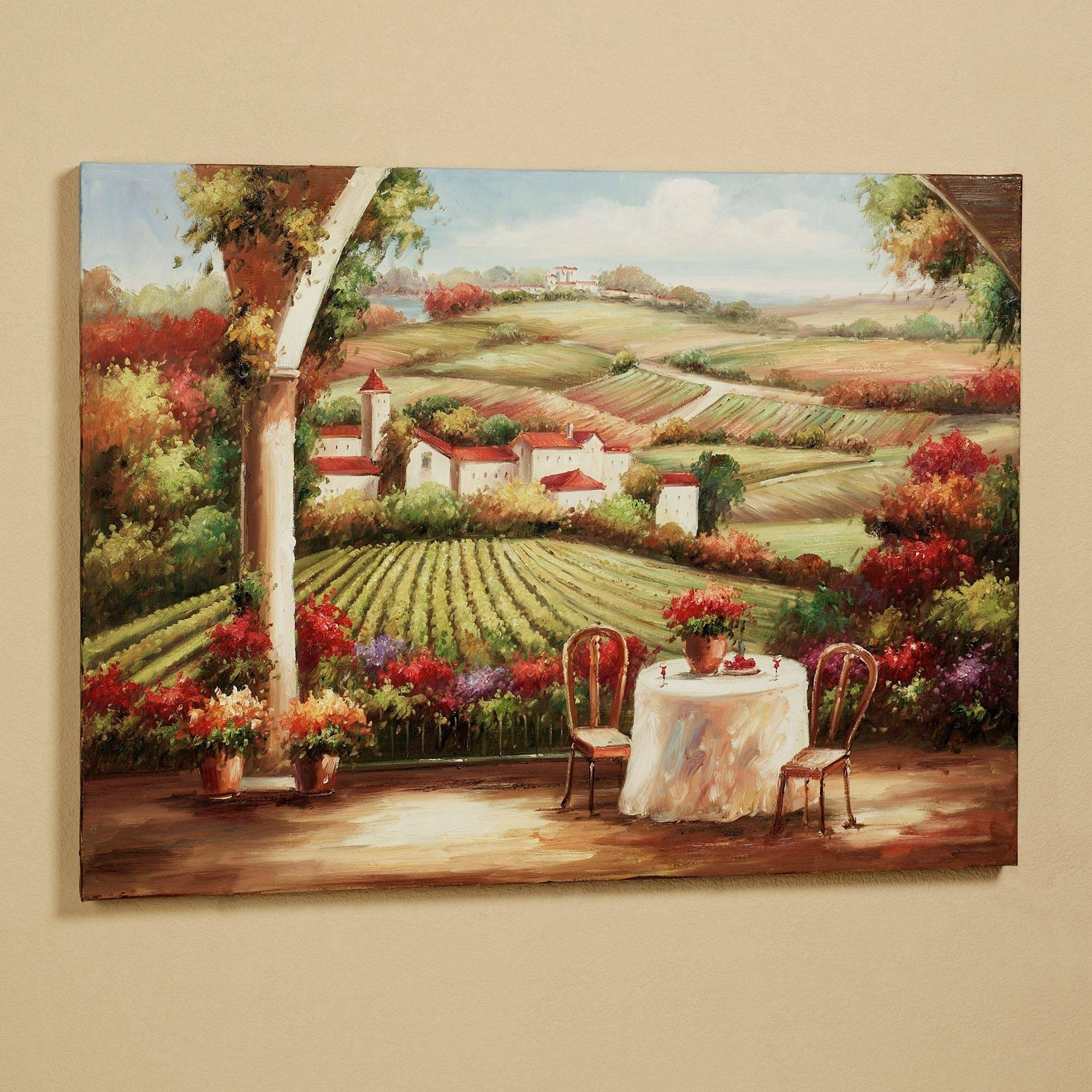 Home Design : 79 Charming Wall Art Ideas For Larges In Newest Vineyard Wall Art (View 4 of 20)