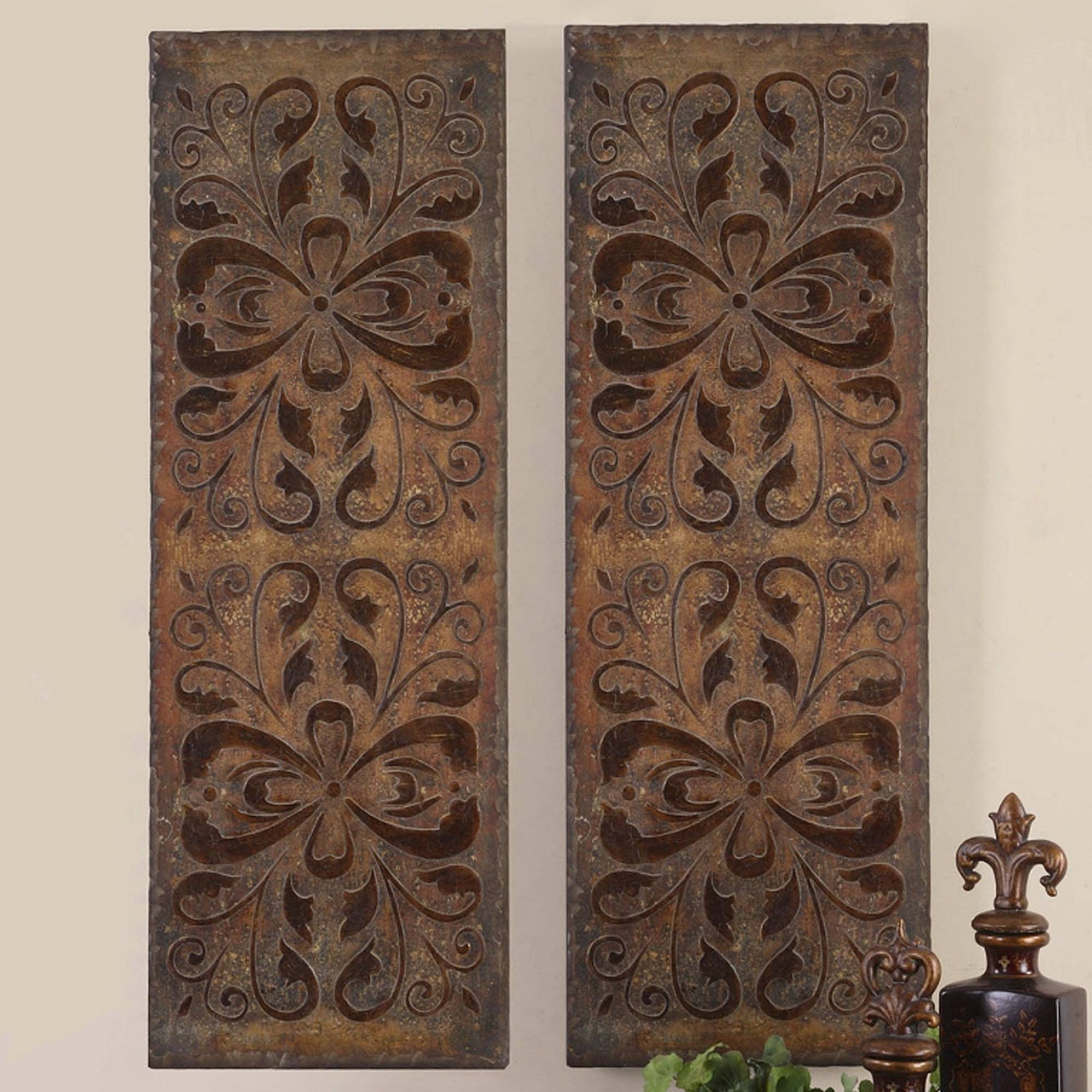 Home Design : Lovely Wood Panel Wall Decor 5 Carved Panels Art Regarding 2018 Wood Carved Wall Art Panels (View 14 of 25)