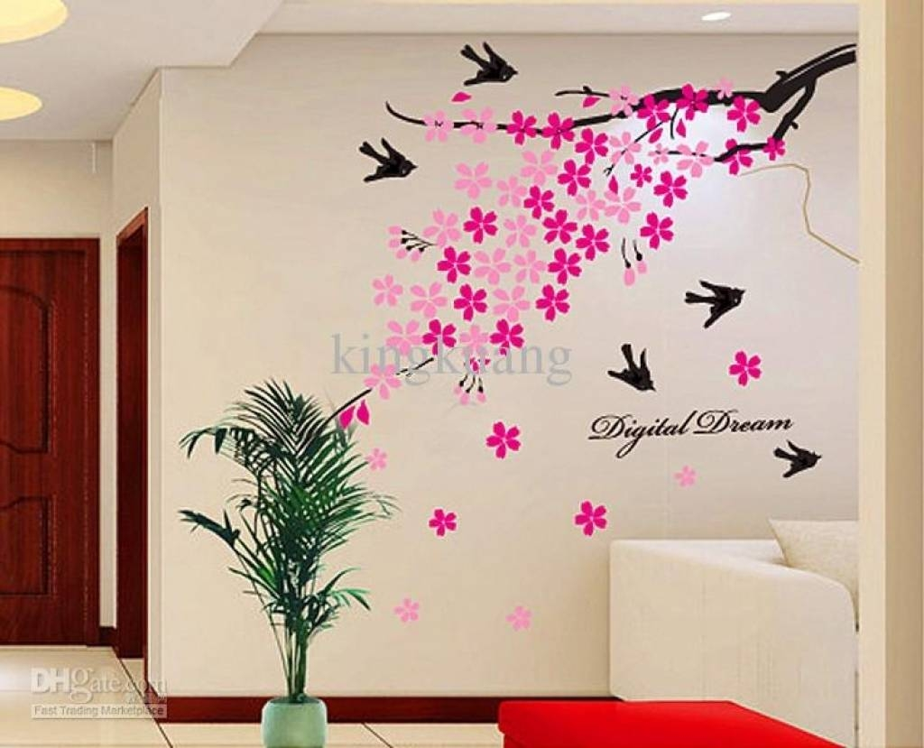 Home Design Wall Art Butterfly Design Floral Circle Wall Art With 2018 Butterflies Wall Art Stickers (View 17 of 20)