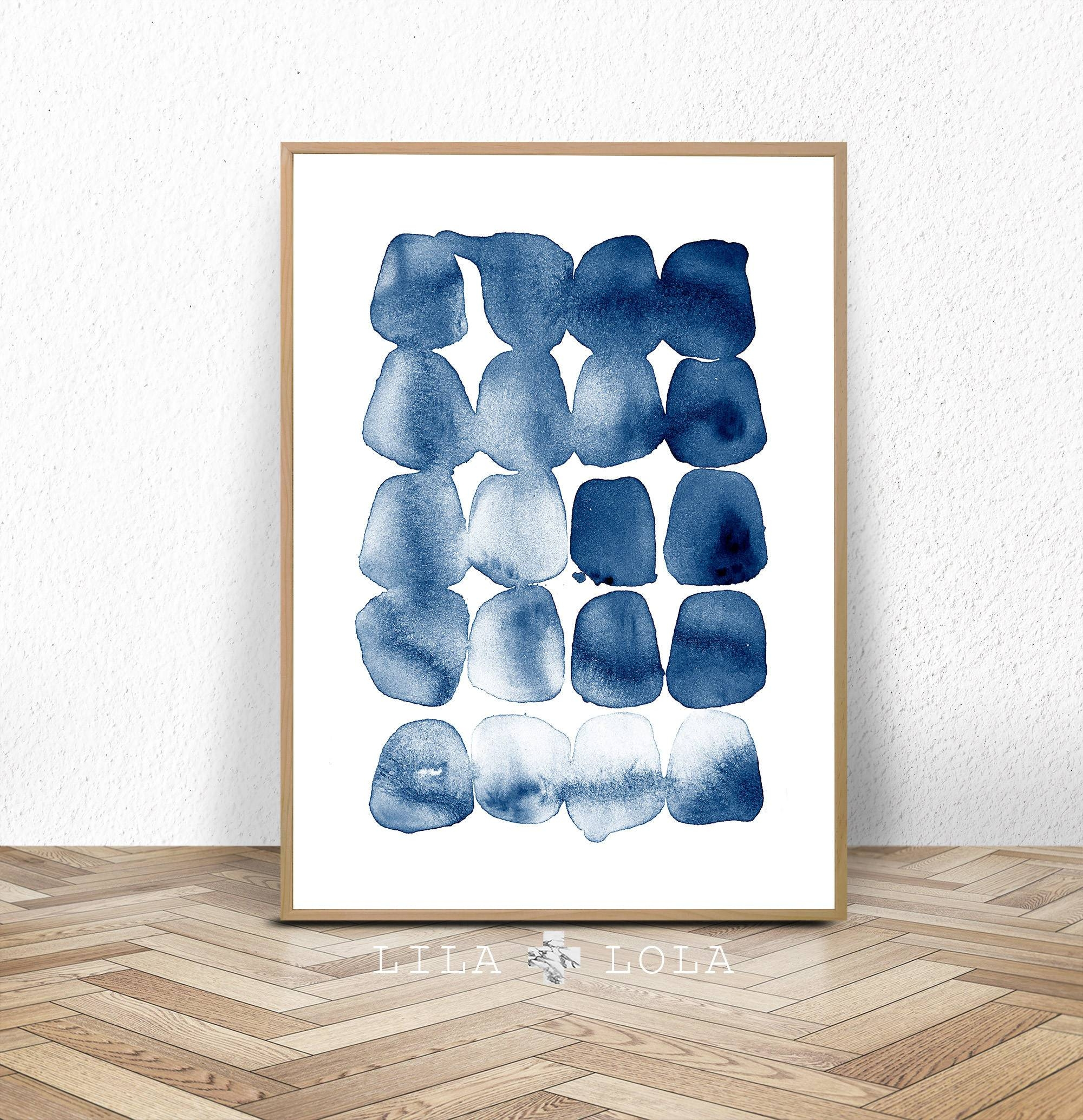 Home Gallery – Etsy Within Most Recently Released Dark Blue Wall Art (View 10 of 20)
