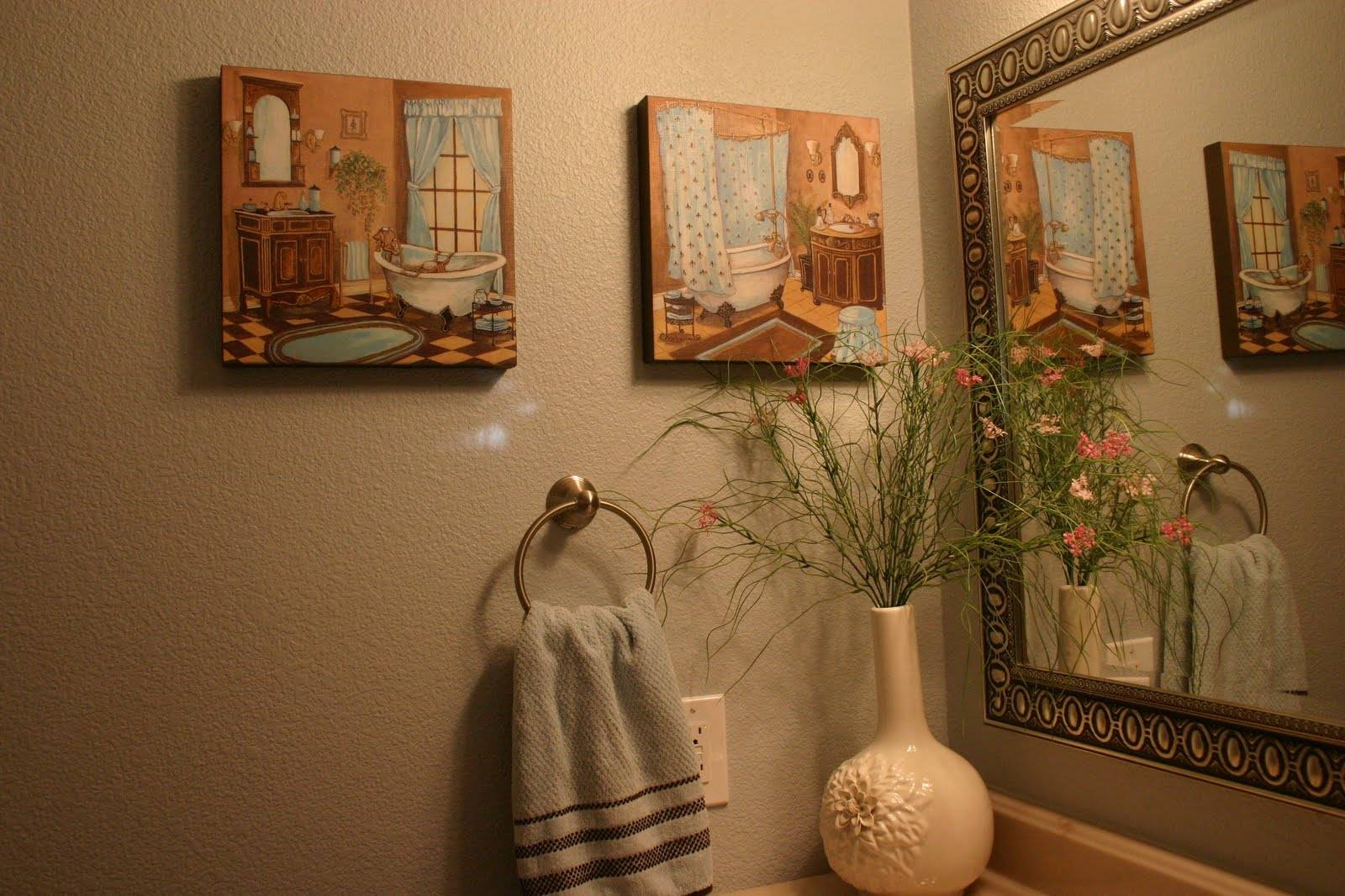 Home Is Where The Heart Is: ~french Blue Guest Bathroom~ Within Most Popular Burlington Coat Factory Wall Art (View 4 of 30)
