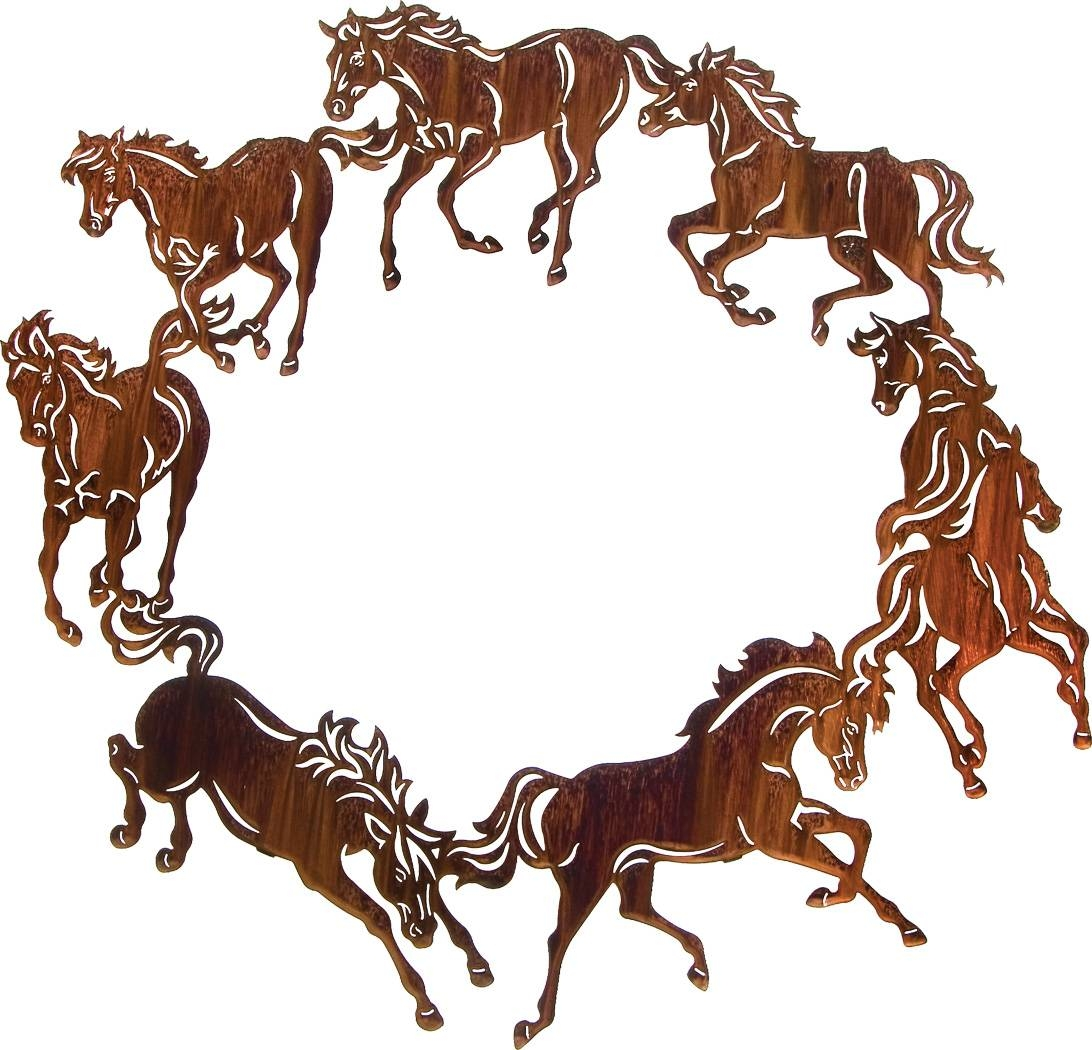 Horse Wall Art, Ponies Wall Hangings, Metal Wall Art Hangings For Most Recently Released Lazart Metal Art (View 5 of 30)
