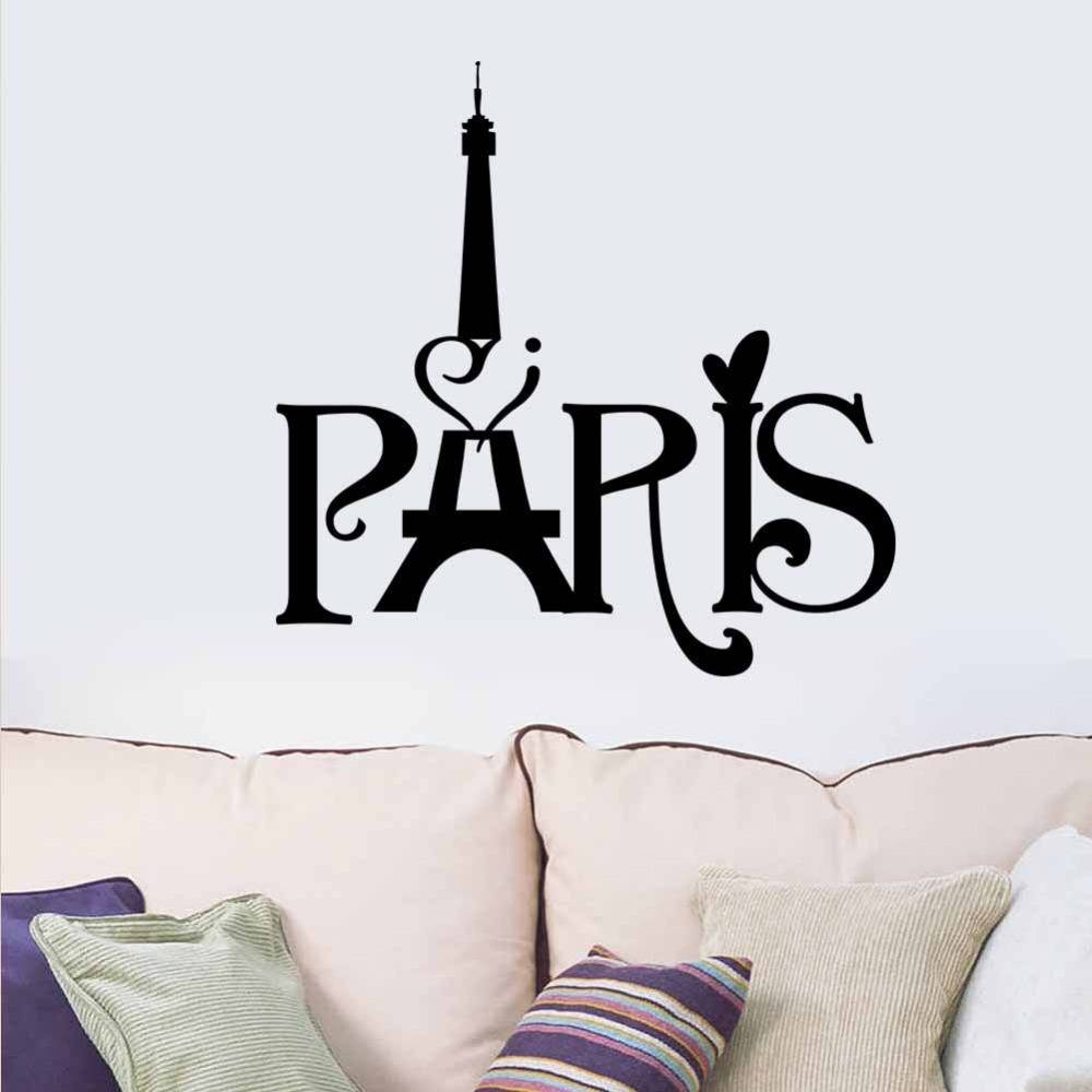 Hot New Home Decoration Paris Eiffel Tower Carved Living Room In 2017 Paris Themed Stickers (View 11 of 15)