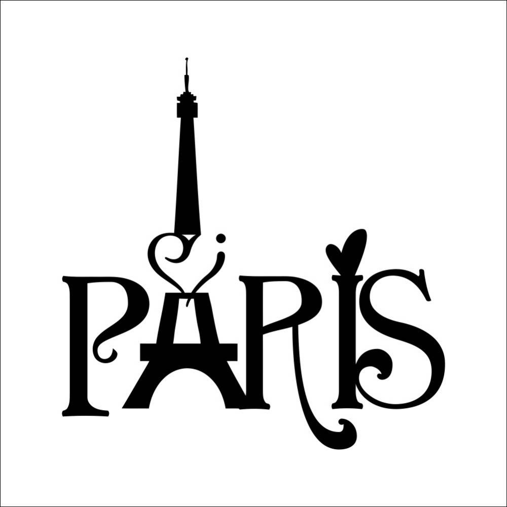 Hot New Home Decoration Paris Eiffel Tower Carved Living Room Within Newest Paris Stickers (View 10 of 15)
