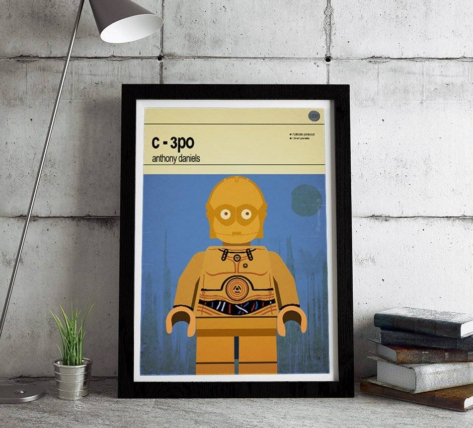 House Of Prints Shop Lego Star Wars C 3po, $ (View 17 of 20)