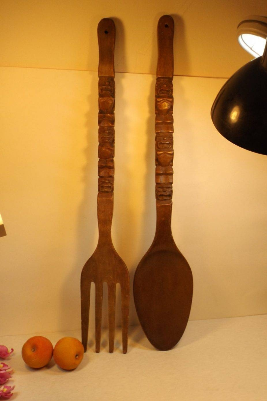House : Outstanding Large Metal Utensil Wall Art Image Of Big Fork With Newest Large Utensil Wall Art (View 6 of 20)