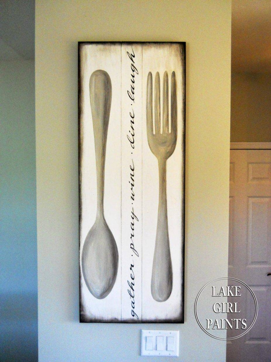 House : Outstanding Large Metal Utensil Wall Art Image Of Big Fork With Regard To Recent Large Utensil Wall Art (View 7 of 20)