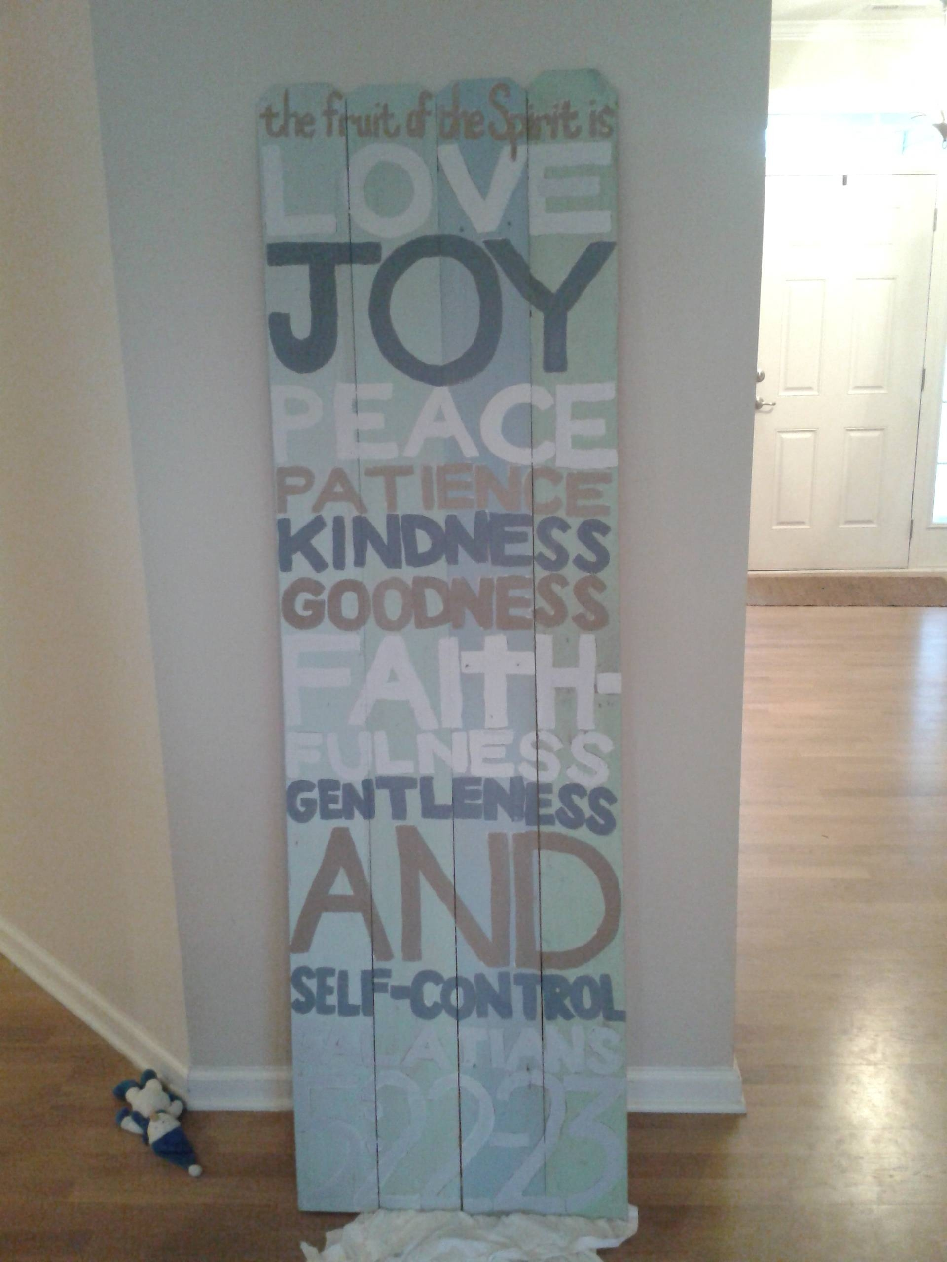 How To: Diy Fence Plank Scripture Art   Campclem Regarding Most Popular Fruit Of The Spirit Wall Art (View 15 of 30)
