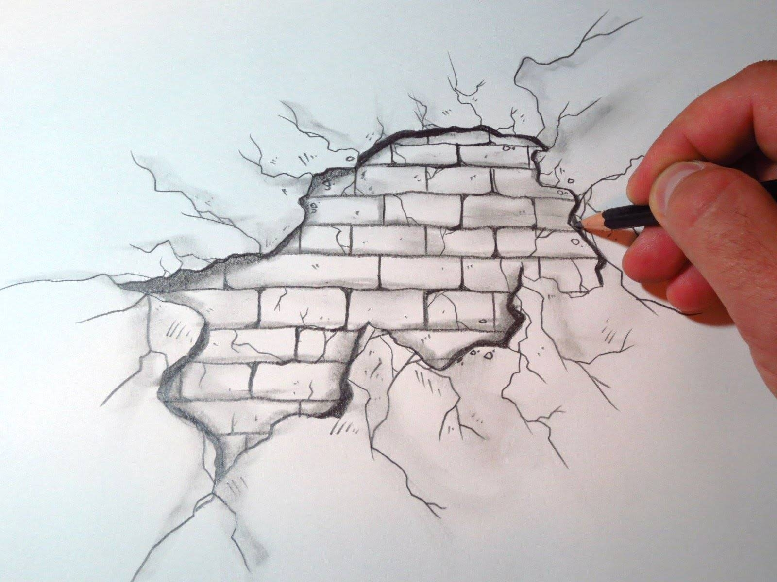 How To Draw A Cracked Brick Wall (The Original Video) – Youtube Pertaining To Current 3D Brick Wall Art (View 16 of 20)