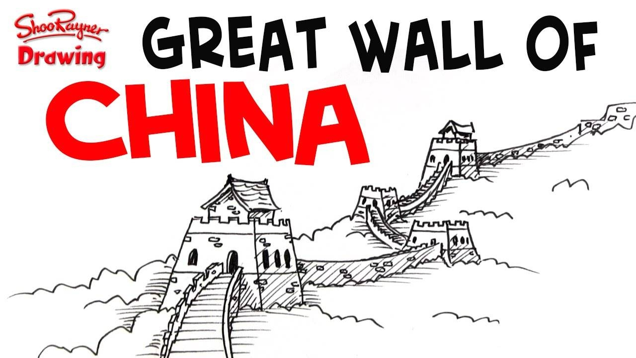 How To Draw The Great Wall Of China – Easy Step By Step For With Regard To Recent Great Wall Of China 3D Wall Art (View 13 of 20)