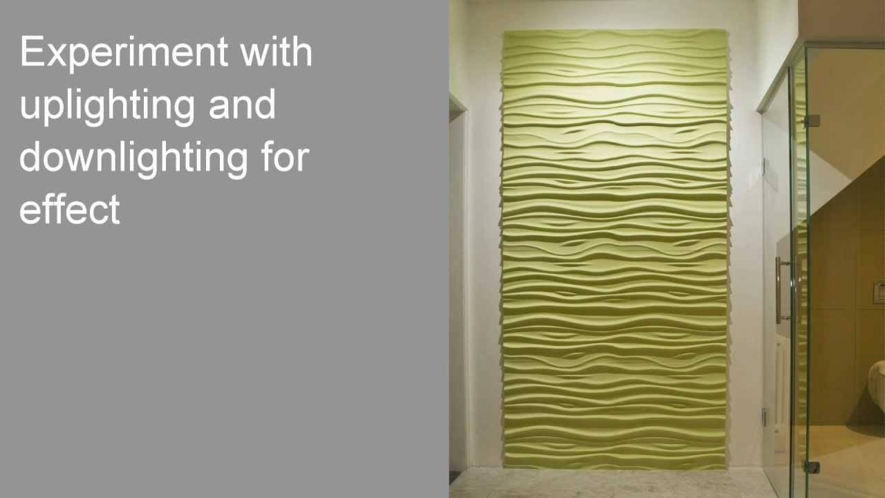 How To Install 3D Textured Wall Panels – Youtube Intended For 2017 Vidella 3D Wall Art (Gallery 6 of 20)