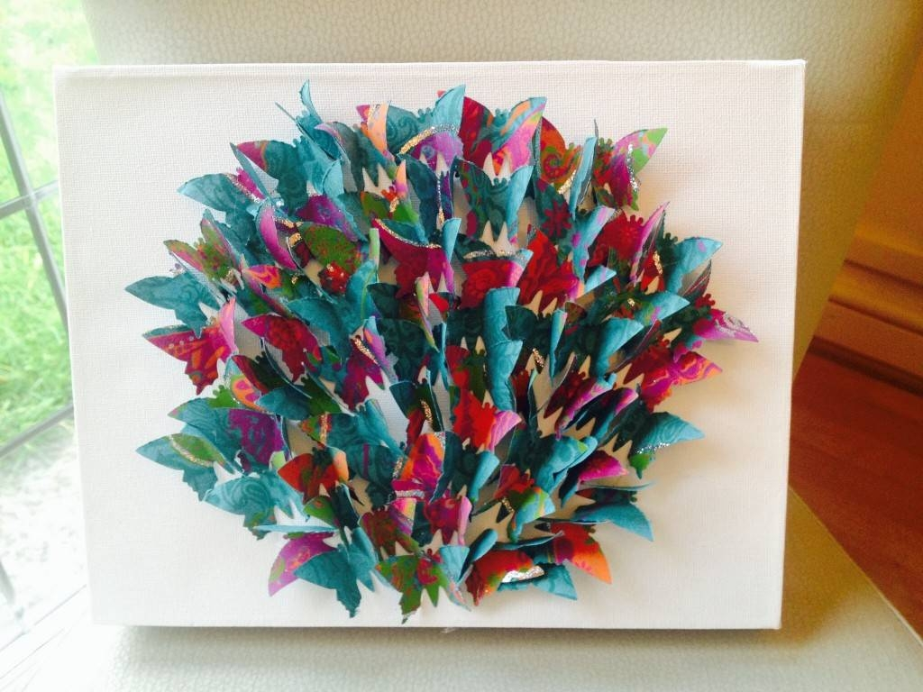 How To Make Butterfly Canvas Wall Art – Hobbycraft Blog Pertaining To Latest Butterfly Canvas Wall Art (View 16 of 20)